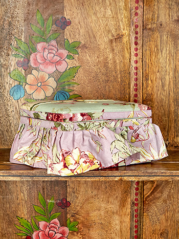 Cottage Core Patchwork Sewing Box