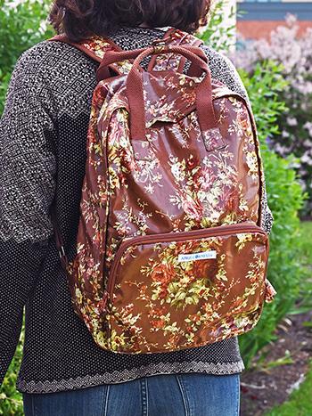 Cottage Rose Oil Cloth University Backpack