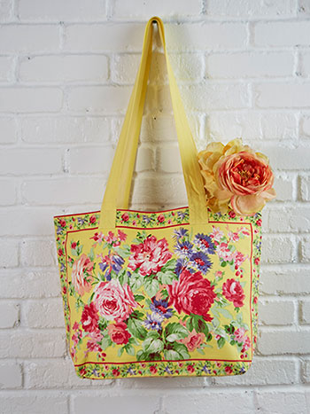 Cottage Rose Market Bag