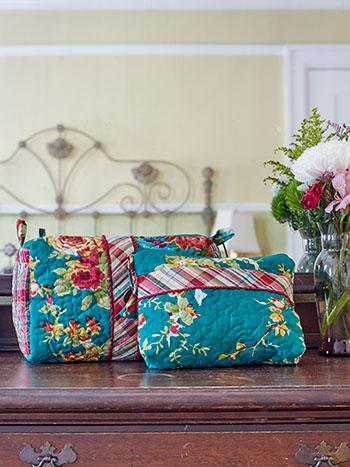 Cottage Rose Cosmetic Bag Bundle