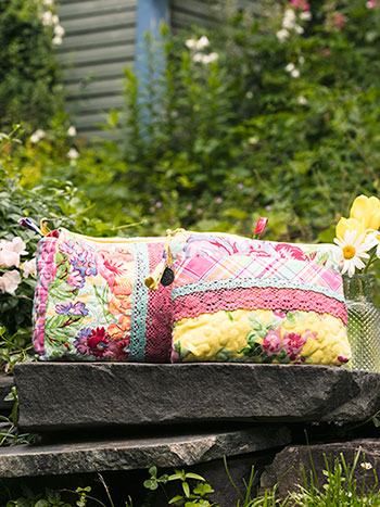 Garden Patchwork Cosmetic Bag Set of 2