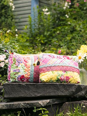 Garden Patchwork Cosmetic Bag Set of 2
