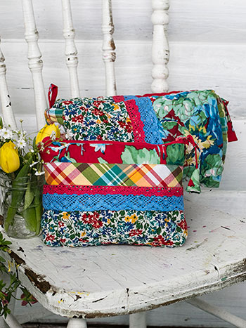 Primary Patchwork Cosmetic Bag Set of 2