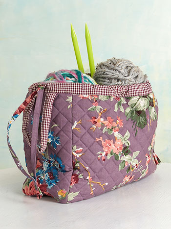Cottage Rose Knitters Bag