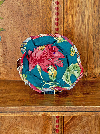 Cranberry Cocktail Patchwork Grammie's Pin Cushion
