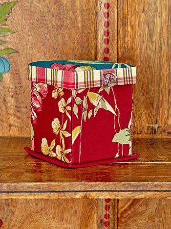 Cranberry Cocktail Patchwork Magic Craft Box
