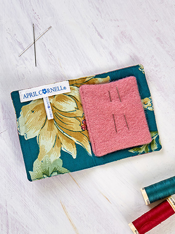 Cranberry Cocktail Patchwork Needle Book