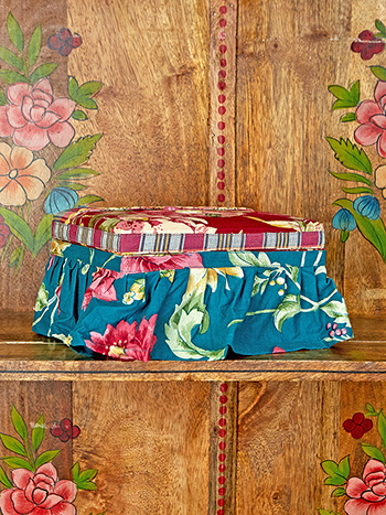 Cranberry Cocktail Patchwork Sewing Box