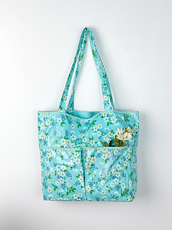Spring Blossom Laminated Tote