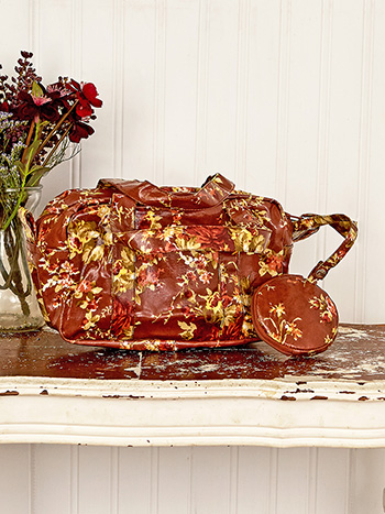 Cottage Rose Oil Cloth Ditty Bag