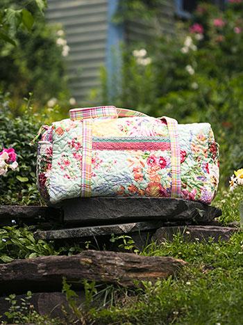 Garden Patchwork Quilt Duffle Bag