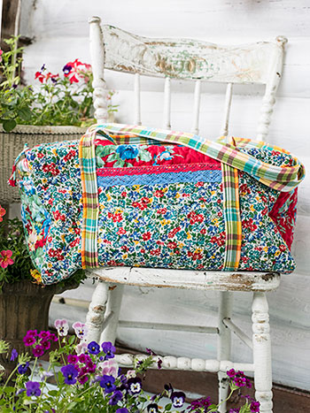 Primary Patchwork Quilted Duffle Bag