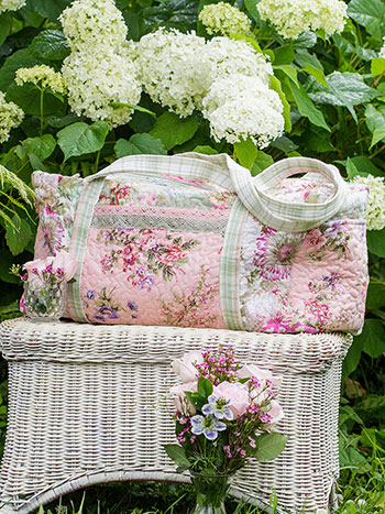 Victorian Patchwork Quilted Duffle Bag