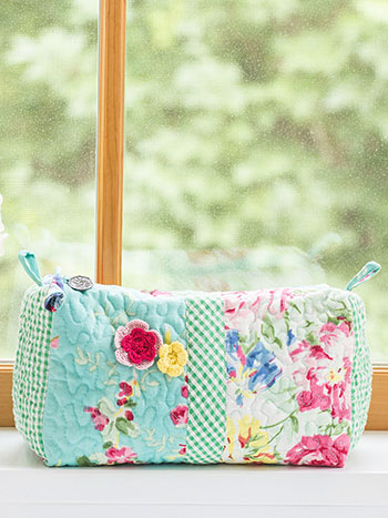 Printemps Patchwork Large Cosmetic Bag