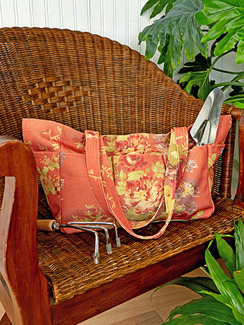 Cottage Rose Outdoor Large Garden Tote