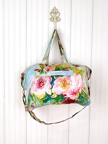 Peony Around the World Bag