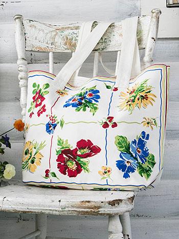 Poppy Patch Market Bag
