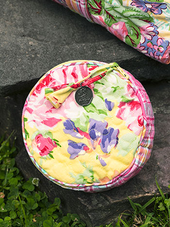 Garden Patchwork Round Cosmetic Bag