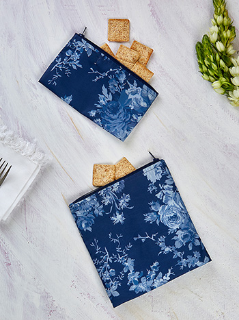 Cottage Rose Sandwich & Snack Bag Set