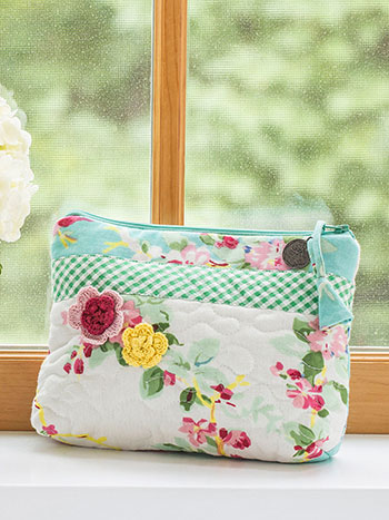 Printemps Patchwork Small Cosmetic Bag