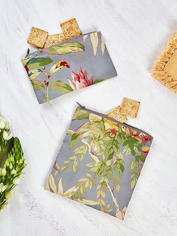 Hydrangea Dream Sandwich & Snack Bag Set