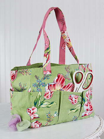 Spring Bouquet Patchwork Carry-It-All Tote