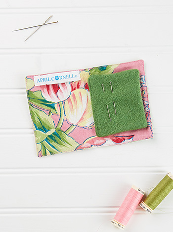 Spring Bouquet Patchwork Needle Book