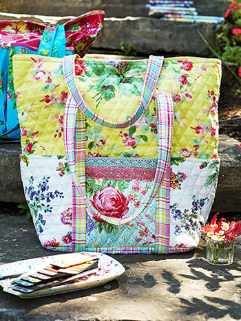Garden Patchwork Quilted Tote