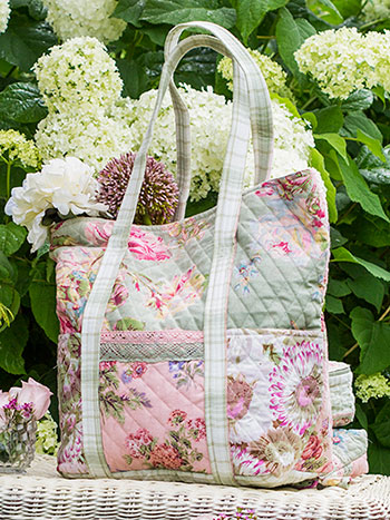 Victorian Patchwork Quilted Tote