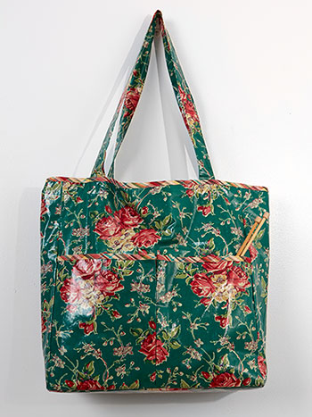 Viola Rose Laminated Tote