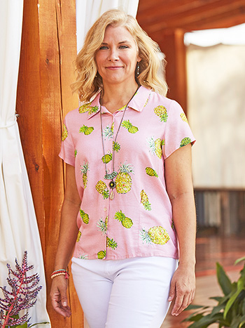 Pineapple Ladies Blouse