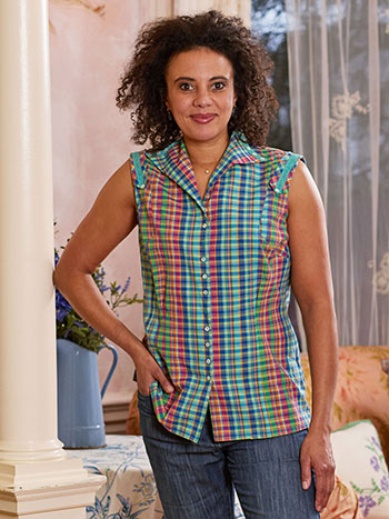 Cape Cod Check Blouse