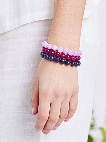 Onyx Bead Bracelet Set of 3