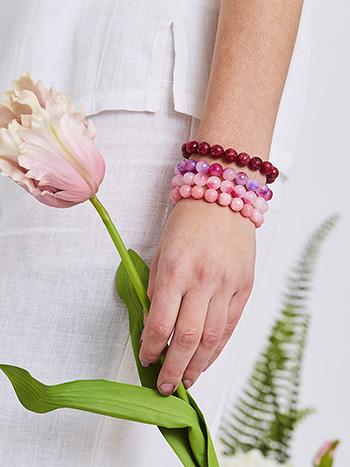 Onyx Bead Bracelet Set of 4