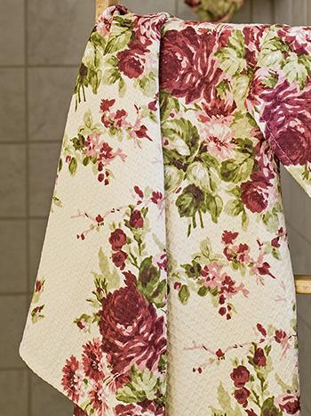 Cottage Rose Honeycomb Bath Towel