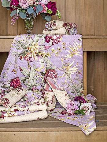 Hydrangea Dream Honeycomb Beach Towel