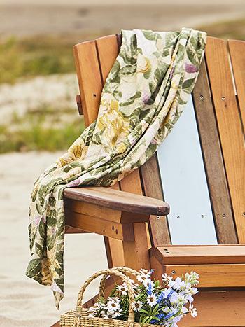 Magnolia Honeycomb Beach Towel