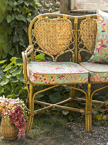 Orchid Study Outdoor Chair Cushion