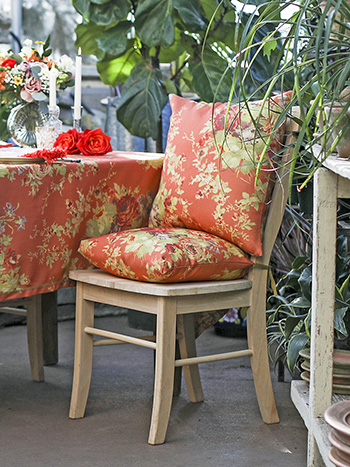 Cottage Rose Outdoor Chair Pad