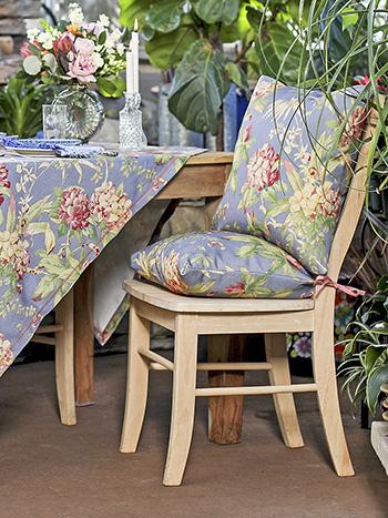 Hydrangea Dream Outdoor Chair Pad