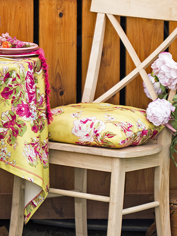 Victorian Rose Outdoor Chair Pad