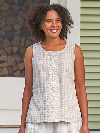Vineyard Linen Check Camisole