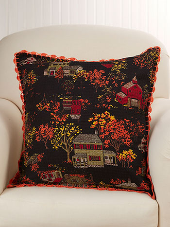 Halloween Village Cushion Cover
