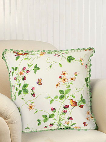 Strawberry Fields Crochet Cushion Cover