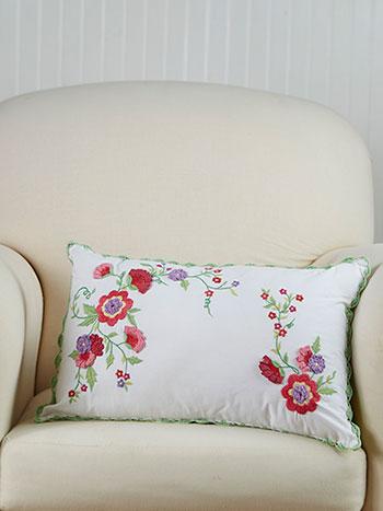 Garden Embroidered Cushion