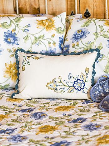 Jacobean Embroidered Cushion