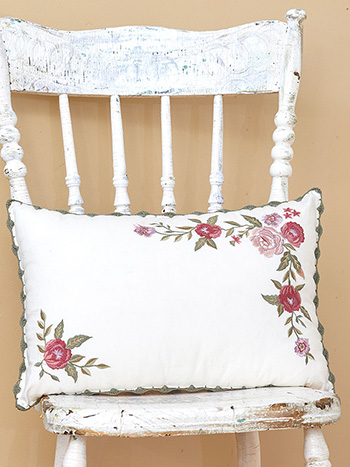 Keepsake Embroidered Cushion