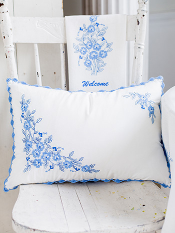 Provence Embroidery Cushion