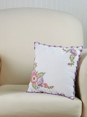 Rosemary's Embroidered Cushion