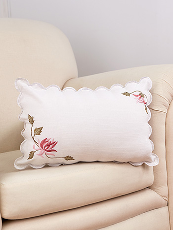 Vintage Charm Embroidered Cushion